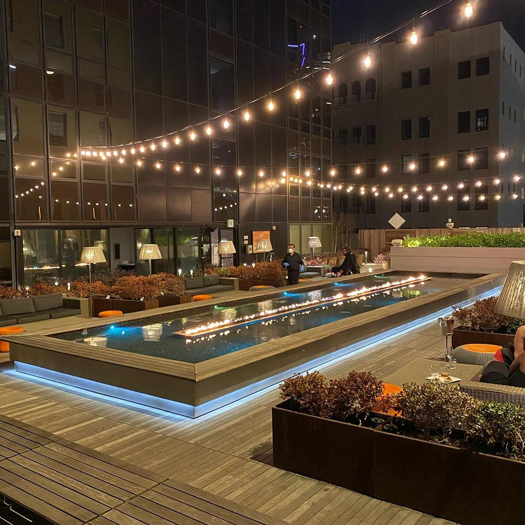 THE DECK 𝗯𝘆 𝗗𝗶𝘀𝘁𝗿𝗶𝗰t at Sheraton Grand near Circa apartments in downtown Los Angeles